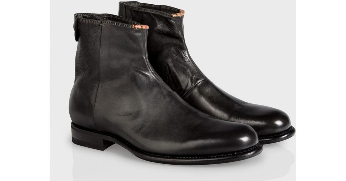 61788093ea0 Paul Smith Dip-Dyed Black Leather Claude Boots for men