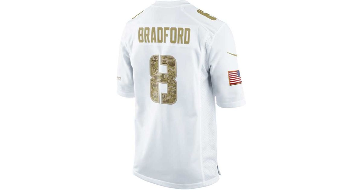 purchase cheap aec9c 1f11e Nike - White Sam Bradford St. Louis Rams Jersey for Men - Lyst