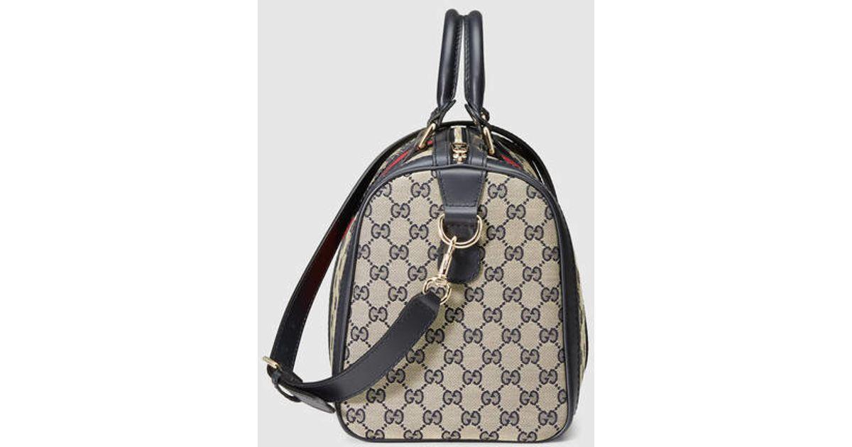 8875c1944e Lyst - Gucci Vintage Web Original Gg Boston Bag in Black