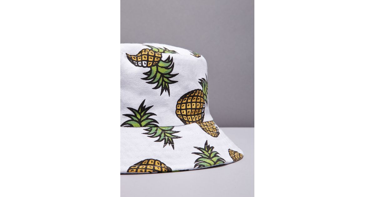 Forever 21 Pineapple Print Bucket Hat You ve Been Added To The Waitlist in  White - Lyst 2cdc2452492