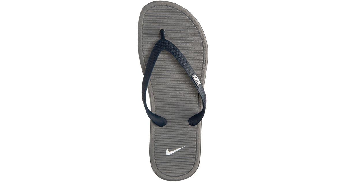 041e25557d1c Lyst - Nike Men s Solarsoft Thong Ii Sandals From Finish Line in Blue for  Men