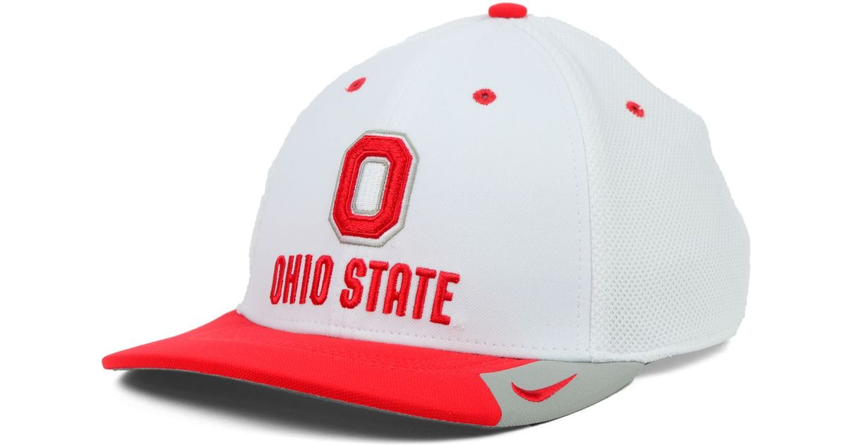6445360a5a9b5 ... hat 7f069 ef69d  order lyst nike ohio state buckeyes ncaa conference  swf cap in white for men 9843f 46e17