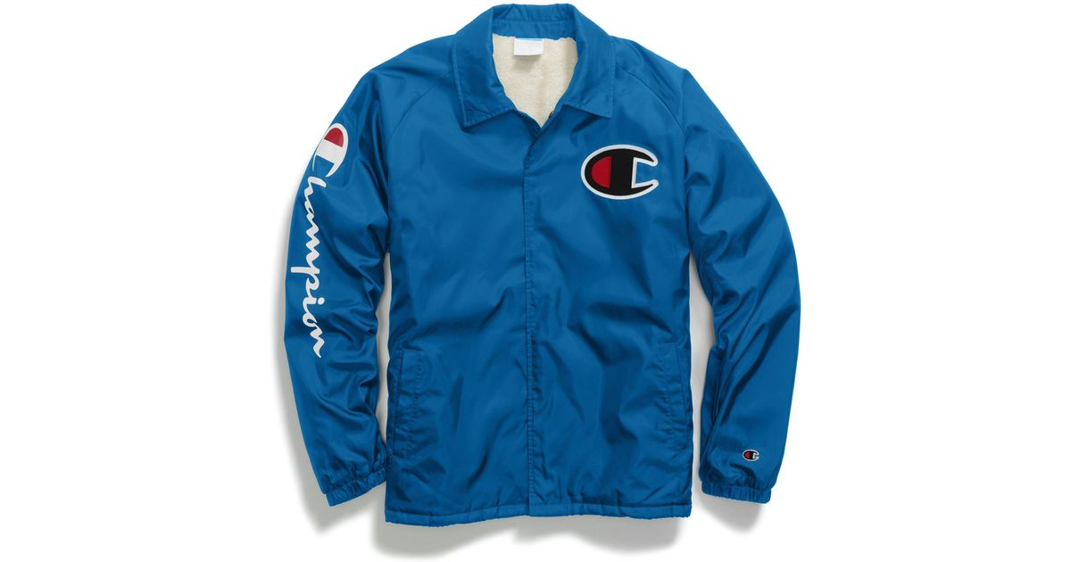 70d6d4f3983b Lyst - Champion Life® Sherpa Lined Coaches Jacket in Blue for Men