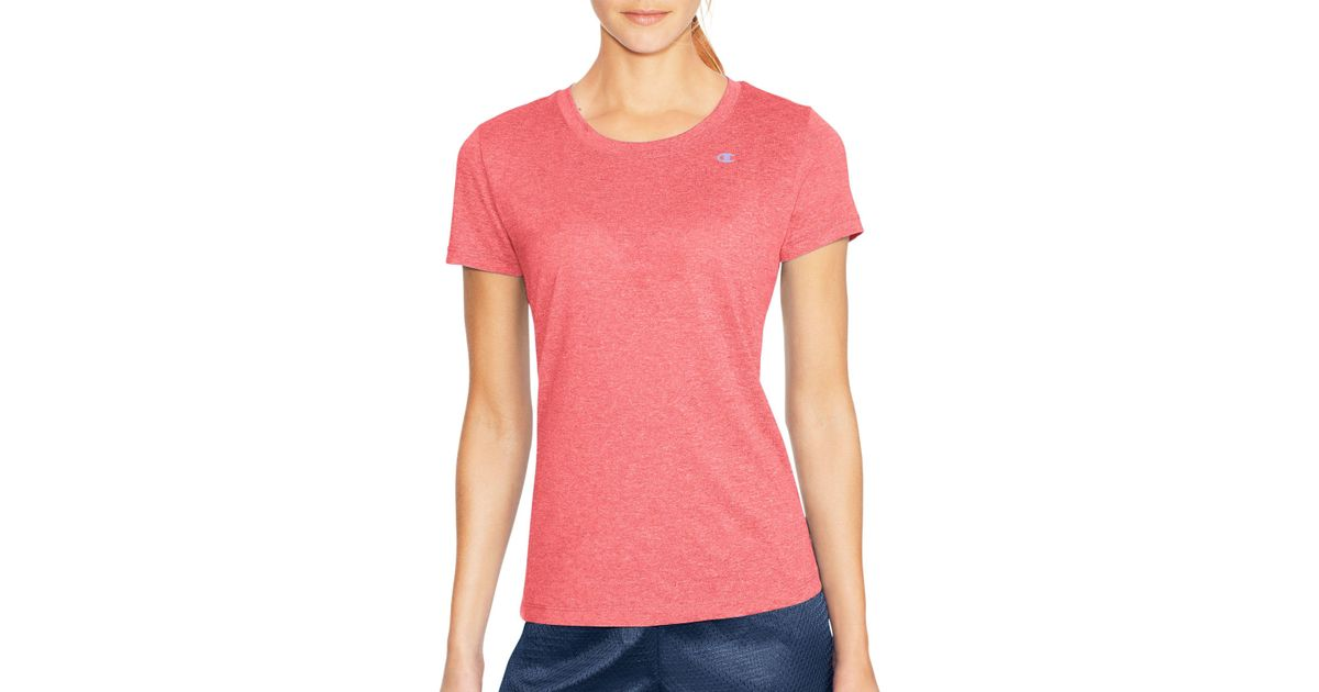 1507a4e151b5 Lyst - Champion Double Dry® Heather Tee in Pink