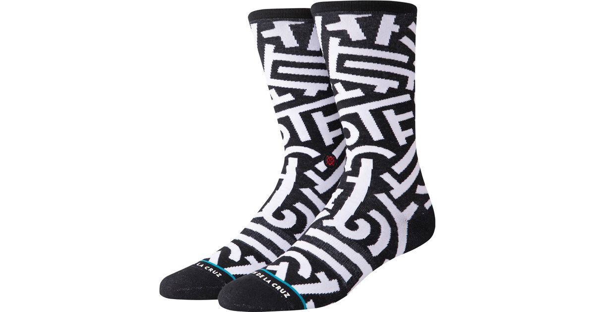 Black NEW Stance Aaron De La Cruz Socks