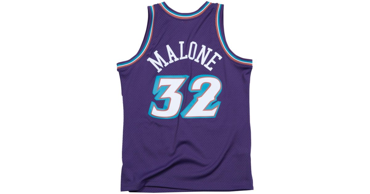 best sneakers 4fce5 91a17 Mitchell & Ness - Purple Karl Malone Nba Swingman Jersey for Men - Lyst