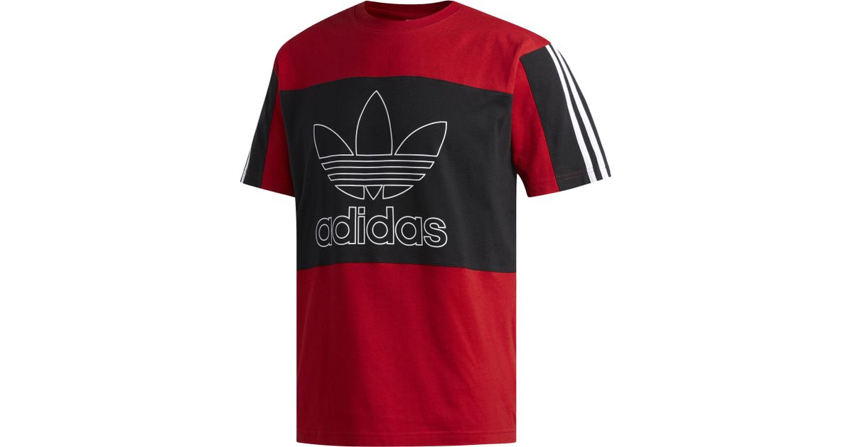 fcc55cfa7 adidas Originals Outline S/s Block T-shirt in Red for Men - Lyst