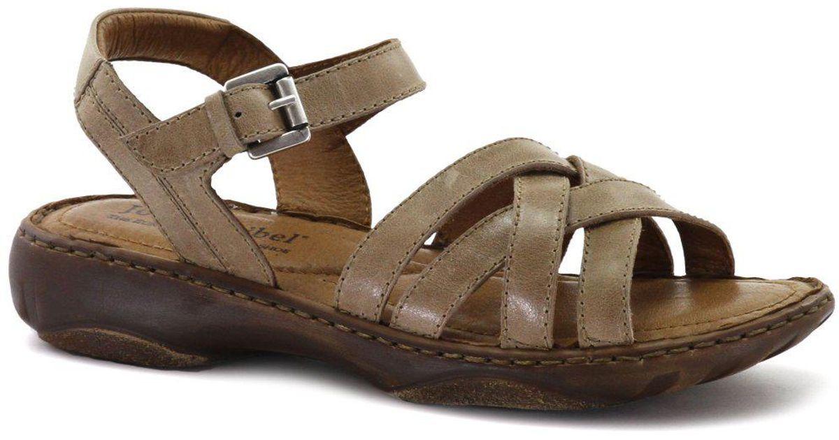 am besten bewertet neuesten Sonderpreis für strukturelle Behinderungen Josef Seibel Brown Debra 23 Womens Leather Sandals