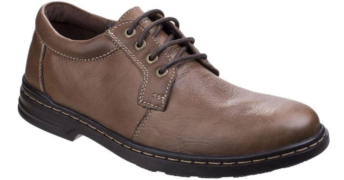 Hush Puppies Max Hanston Mens Brown Leather Smart Casual Lace Up Shoes