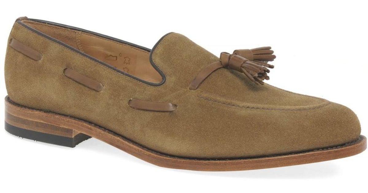 1aa051ae Loake Lincoln Mens Suede Tassel Loafers in Brown for Men - Lyst
