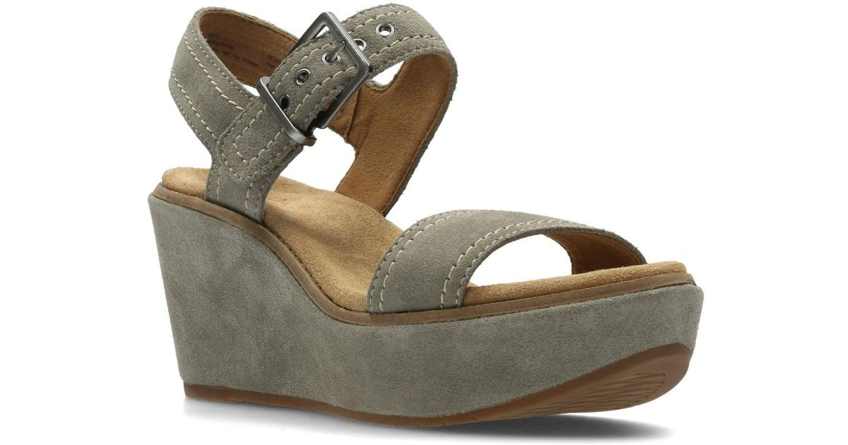 Lyst - Clarks Aisley Orchid Womens Wide Wedge Heel Sandals a3cc03e02e17
