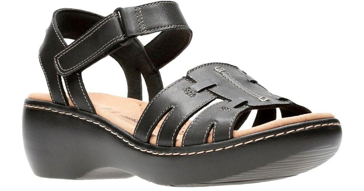 41dada5f14a Lyst - Clarks Delana Nila Womens Sandals in Black