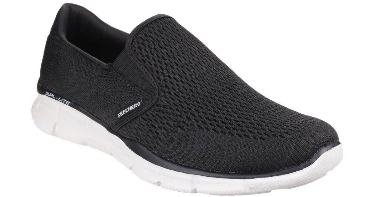 fc92507ae82d Lyst - Skechers Equalizer Double Play Mens Slip On Sports Shoes in Black  for Men
