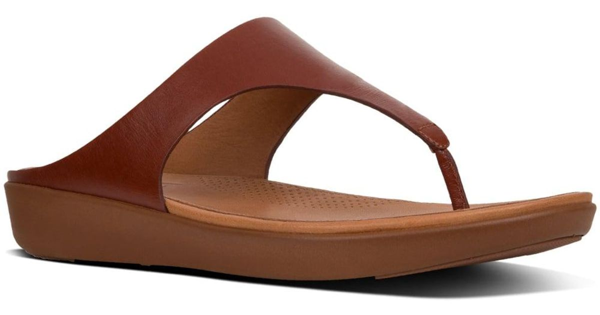 Leather Toe Ii Brown Fitflop Sandals Womens Post Banda fy6gYb7