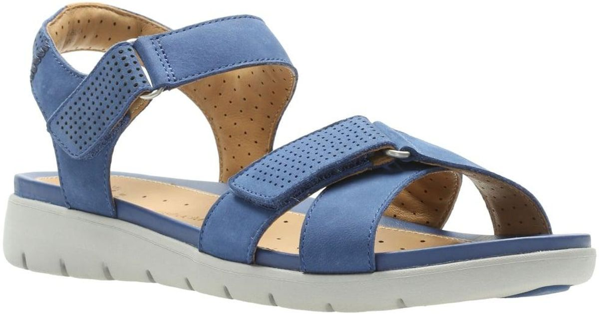 948f51b73117 Lyst - Clarks Un Saffron Womens Casual Sandals in Blue
