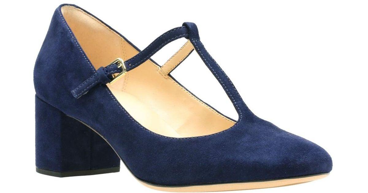 Ladies Clarks Orabella Fern Leather T-Bar Smart Court Shoes