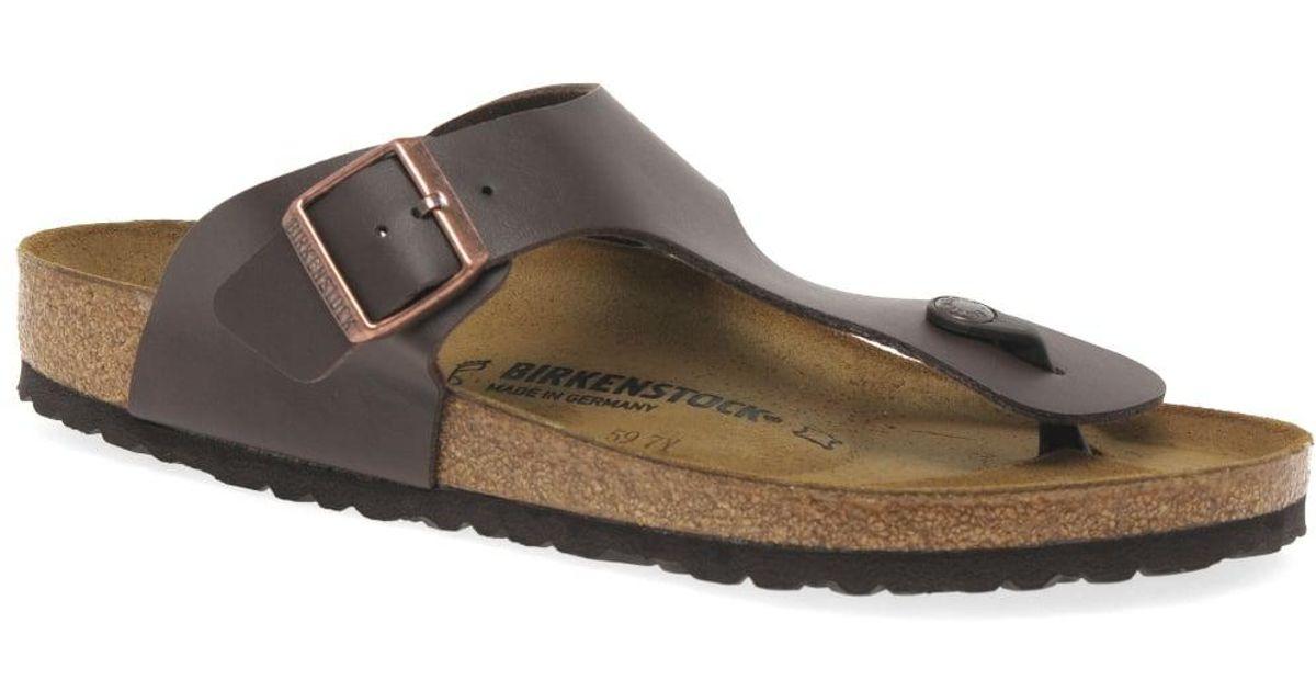 52a480e2e1e4 Birkenstock Ramses Mens Toe Post Sandals in Brown for Men - Lyst