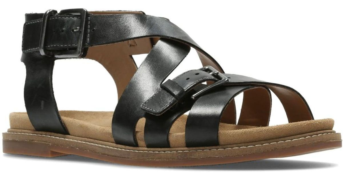 748c770f899 Lyst - Clarks Corsio Bambi Womens Strappy Sandal in Black