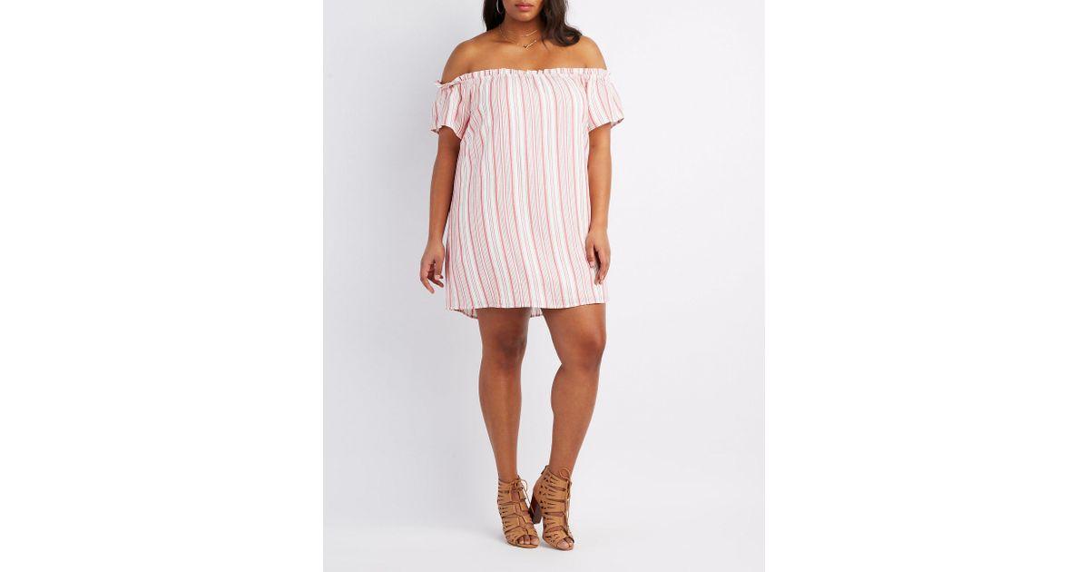 Plus Size Off the Shoulder Shift Dress