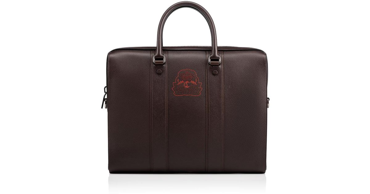 22c2d1b8a615 Lyst - Christian Louboutin Streetwall Briefcase in Brown for Men