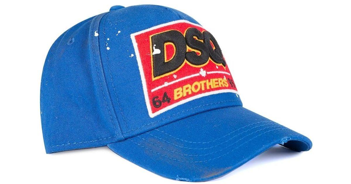 f62b77b43 DSquared² Dsquared Brothers Baseball Cap Blue for men
