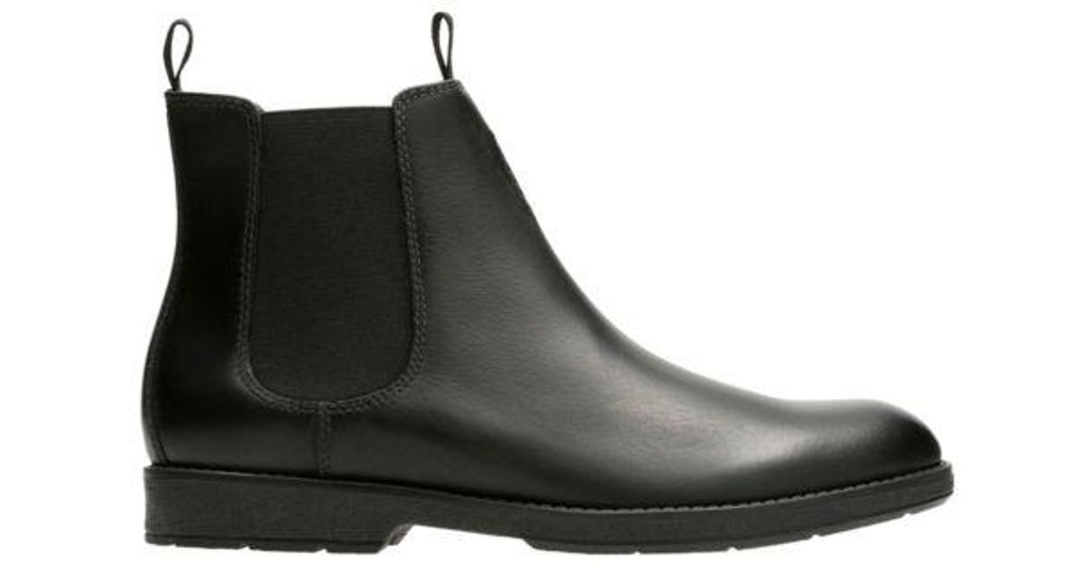 Clarks Leather Hinman Chelsea in Black