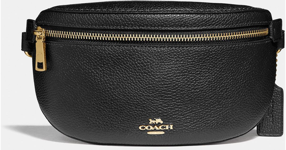 5e332677eeb9 Lyst - COACH Belt Bag in Black