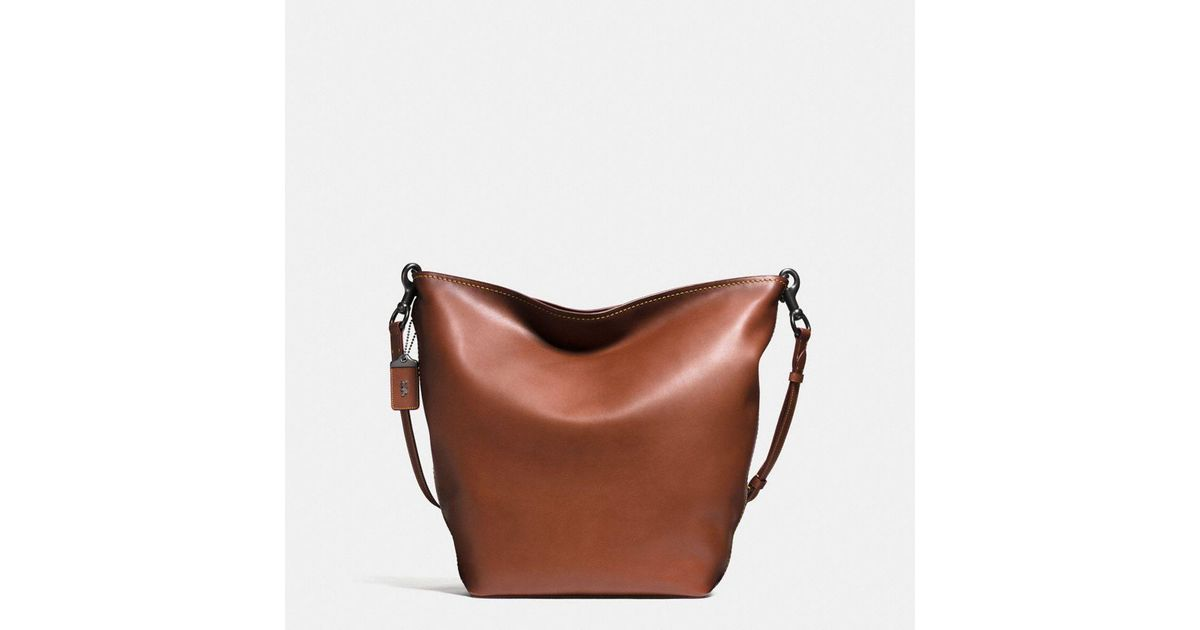 570813ee49 Lyst - COACH Duffle Bag In Burnished Very Natural Glovetanned Leather in  Brown