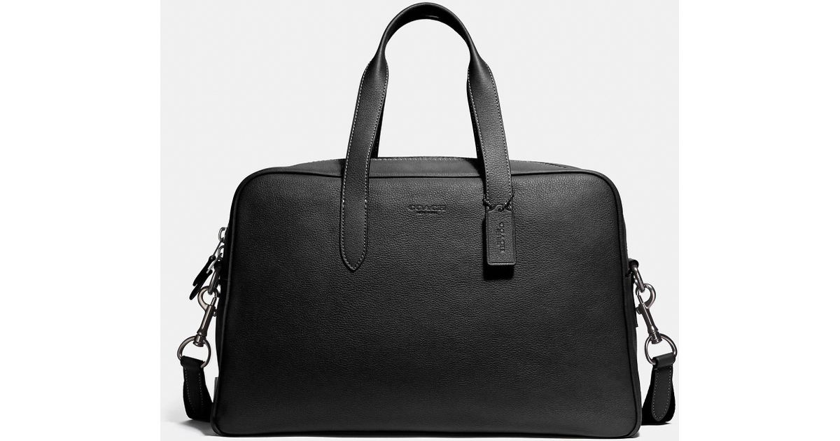 a49310caf0 COACH - Black Metropolitan Soft Carryall for Men - Lyst