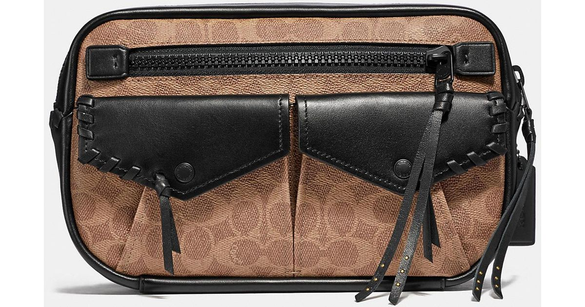 77f089cbb6 Lyst - COACH Utility Belt Bag 25 In Signature Canvas in Black for Men