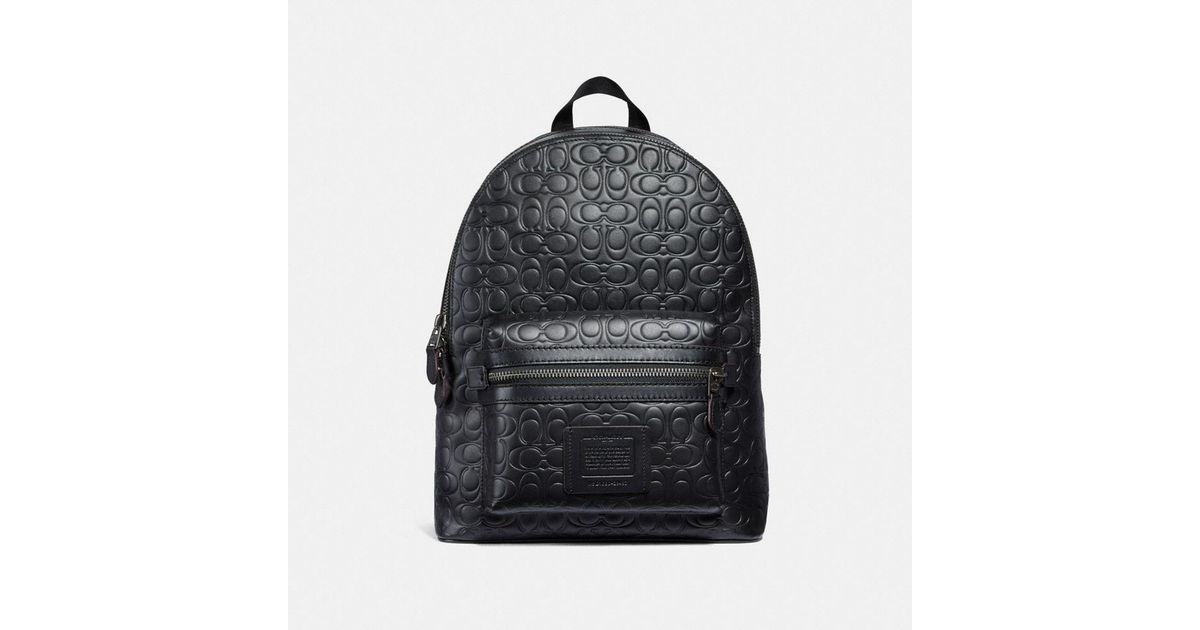 36302597f6 ... ireland coach academy backpack in signature leather in black for men  lyst 9c2ab 5e7ed