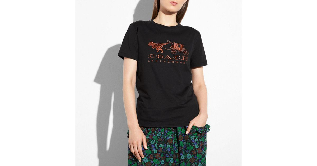 8960c4ca38 COACH Black Rexy And Carriage T-shirt