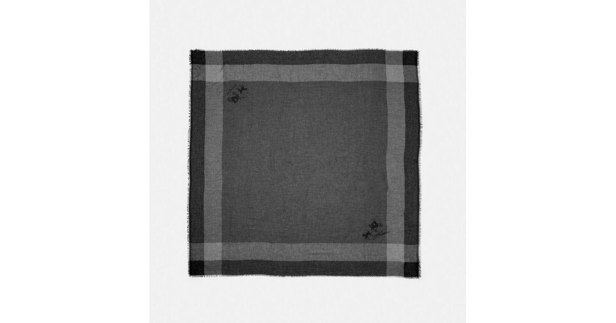 255282fd63 COACH Black Windowpane Challis