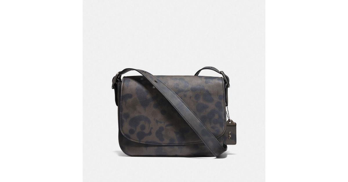 Lyst - COACH Saddle 33 With Wild Beast Print in Black e1210f2560