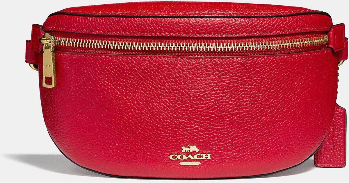 a89b0430b COACH Belt Bag in Red - Lyst