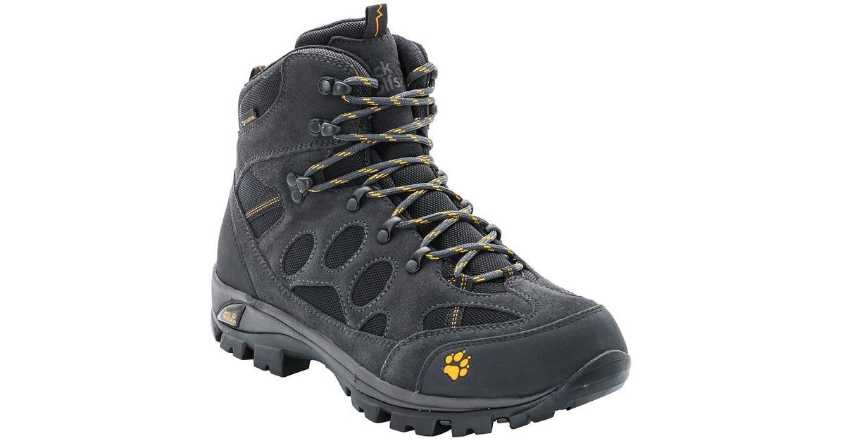nowe tanie ujęcia stóp oficjalny sklep Jack Wolfskin Black All Terrain 7 Texapore Mid Waterproof Hiking Shoes for  men