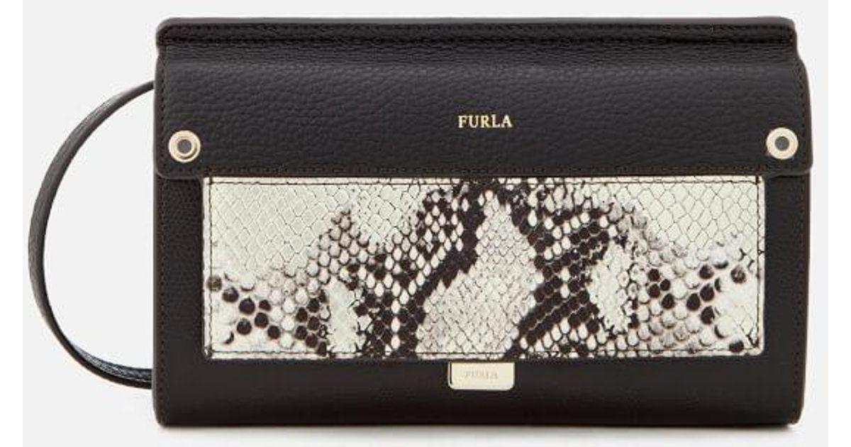c1180519 Furla Women's Like Mini Cross Body Bag in Black - Lyst
