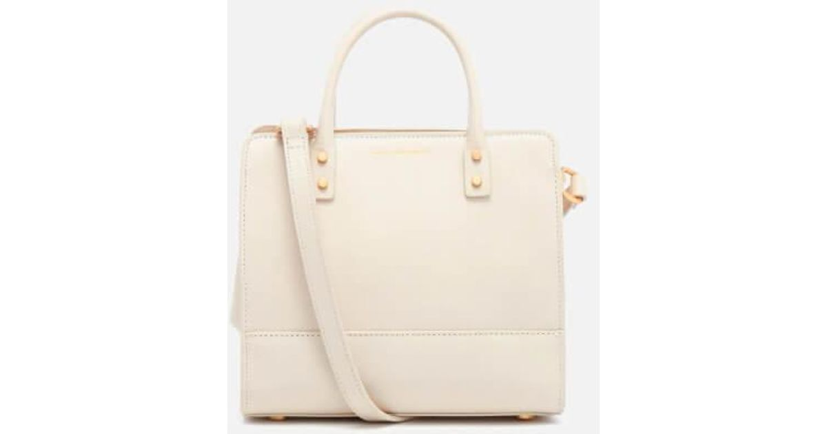 Lyst - Lulu Guinness Women s Mini Daphne Textured Leather Square Cross Body  Bag in Natural f865f61455