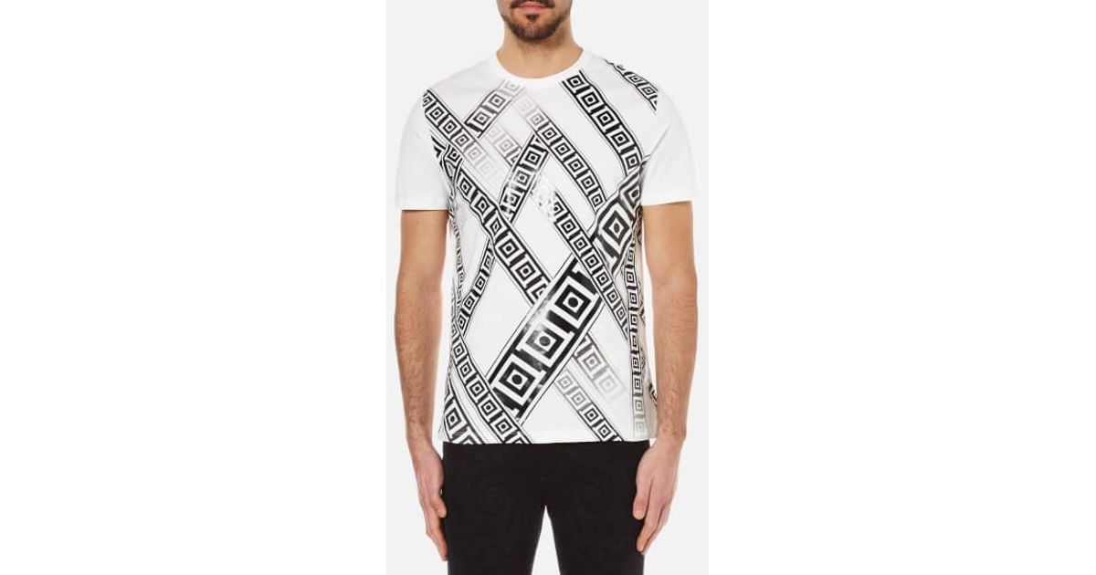 befbd62f1dd2 Lyst - Versace Men's Greek Patterned Embossed Tshirt in White for Men