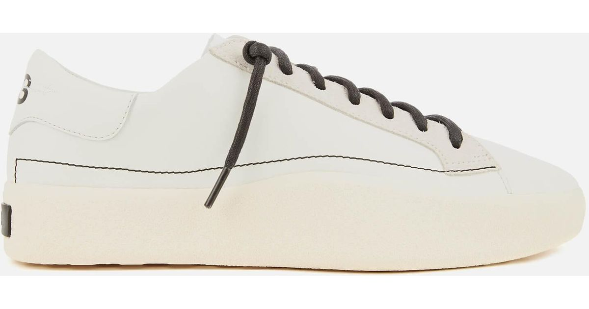 5b7f70797 Y-3 Tangutsu Lace Trainers in White for Men - Lyst