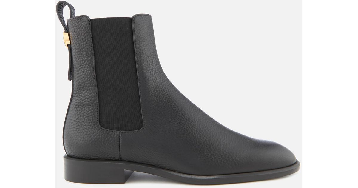 Mulberry Leather Chelsea Boots in Black