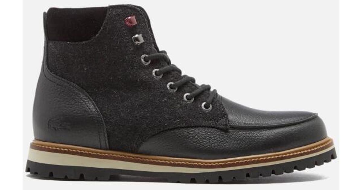 2efee27748bfef Lacoste Men s Montbard 316 2 Boots in Black for Men - Lyst