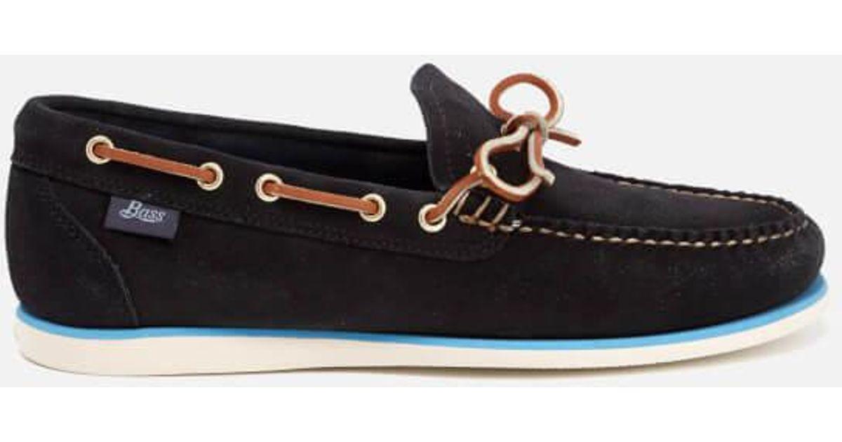 Lyst - G.H.BASS Men s Camp Moc Lite Decker Suede Boat Shoes in Blue for Men 13751a5b61a0