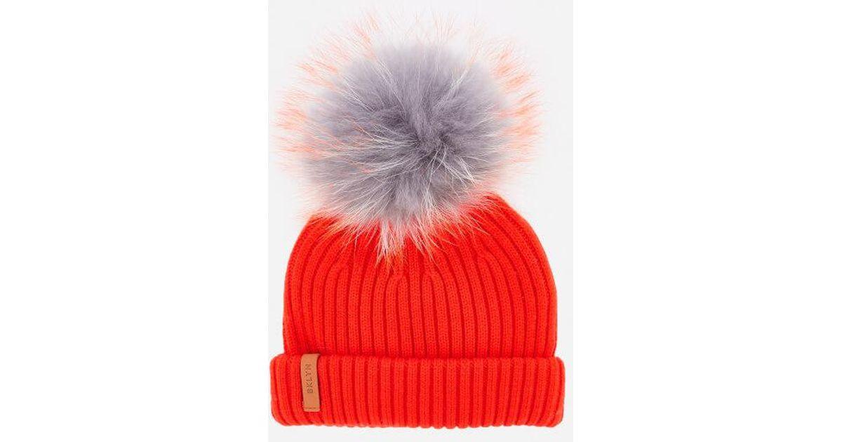 e09dfbb38b5 BKLYN Women s Merino Classic Pom Pom Hat in Gray - Lyst