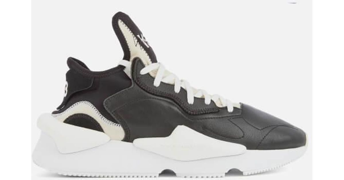 Y-3 Leather Y3 Men's Kaiwa Trainers in