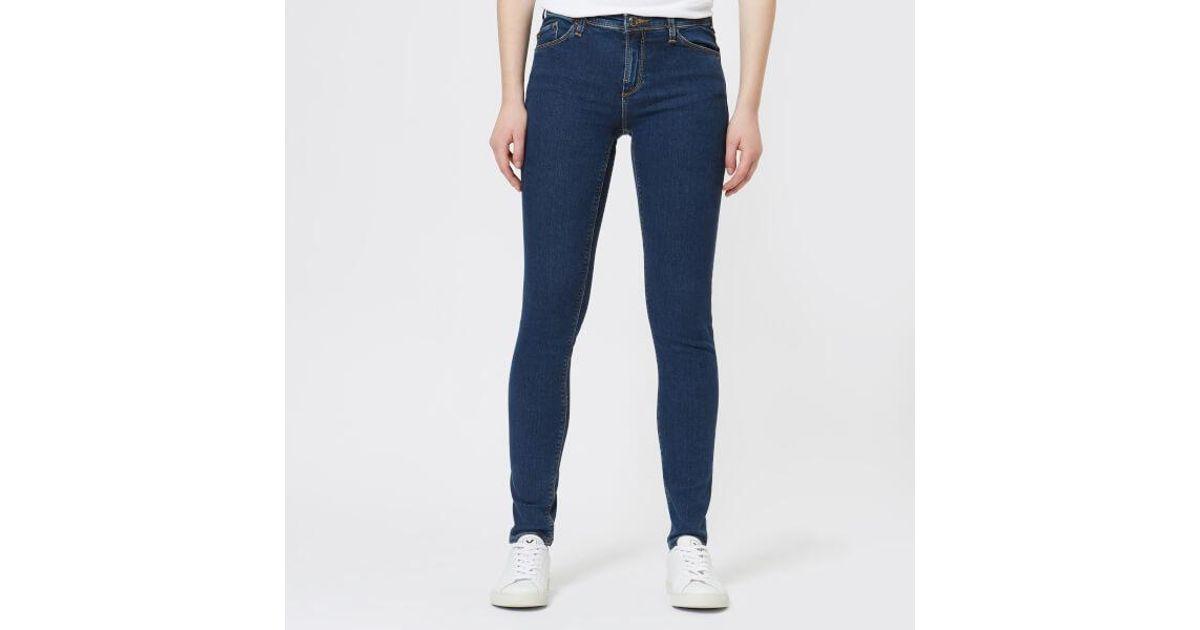 f5284815 Emporio Armani - Blue Women's J28 Mid Rise Jeans - Lyst