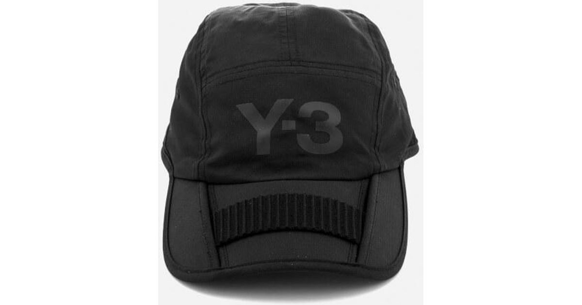 Lyst - Y-3 Y3 Foldable Cap in Black for Men ff3f5368fa5