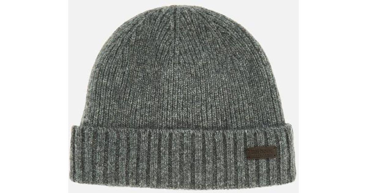 d6925aef00fd5 Lyst - Barbour Men s Carlton Beanie Hat in Gray for Men