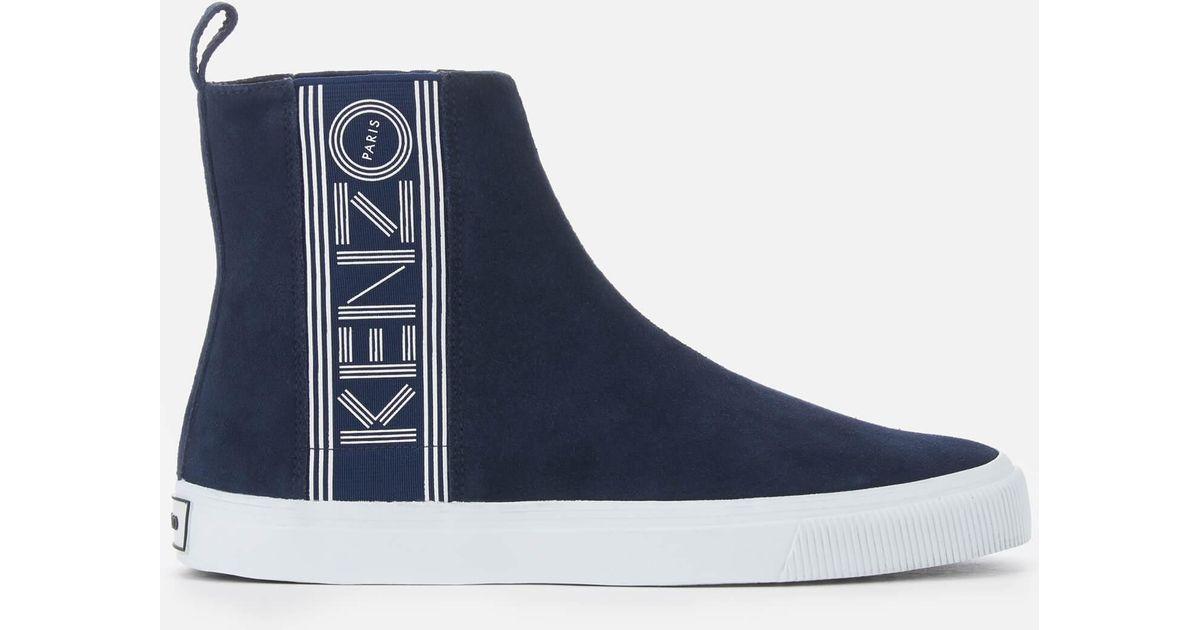 713737fb KENZO Blue Kapri Suede High Top Trainers for men