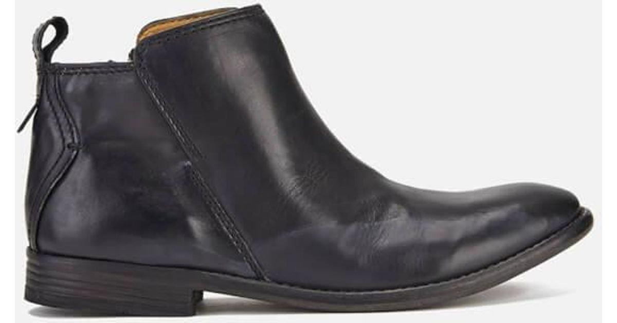 84d016e7c37 H by Hudson Black Women's Revelin Leather Ankle Boots